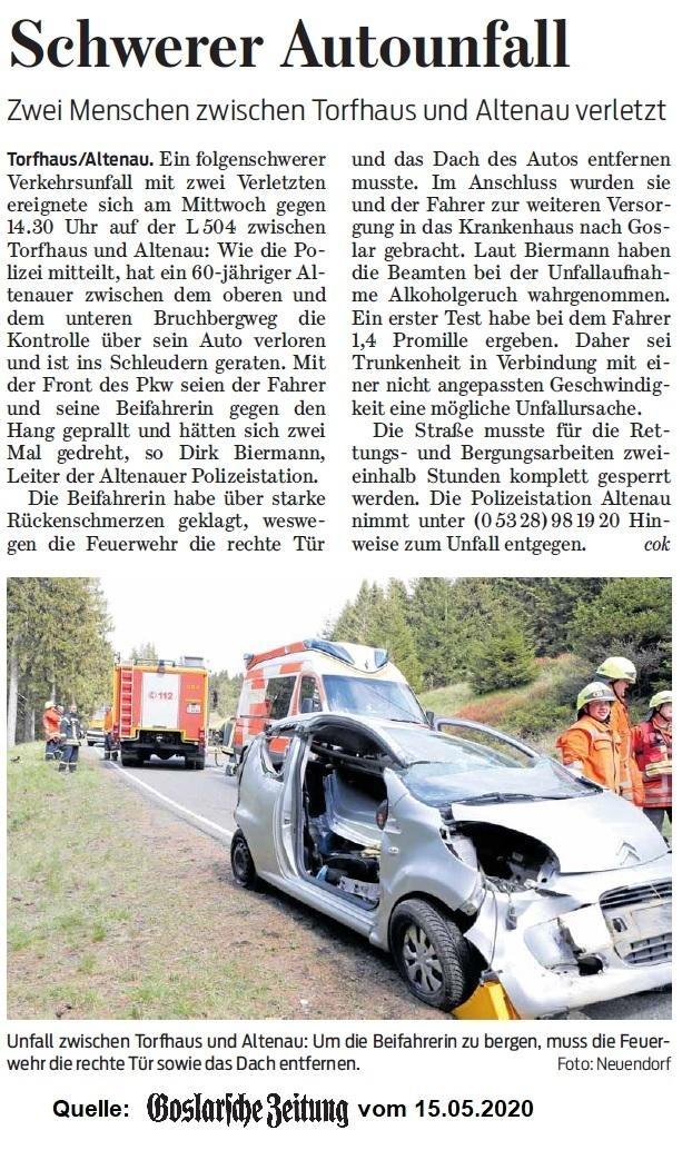 technische Hilfeleistung, Verkehrsunfall